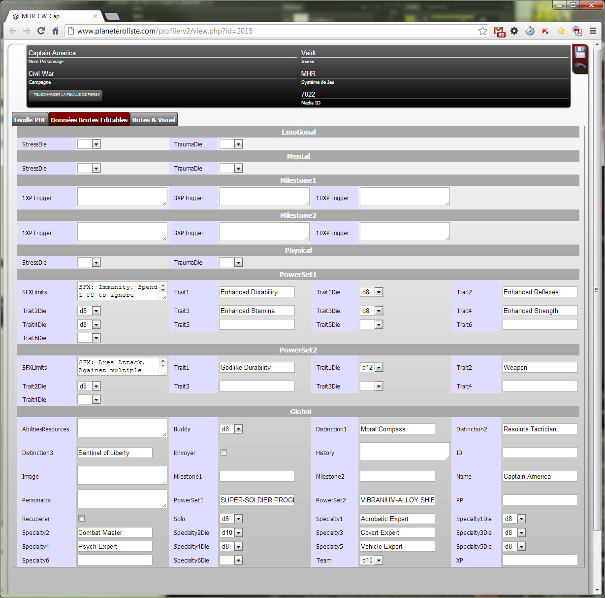 Community Forums: Character Sheets | Roll20: Online virtual